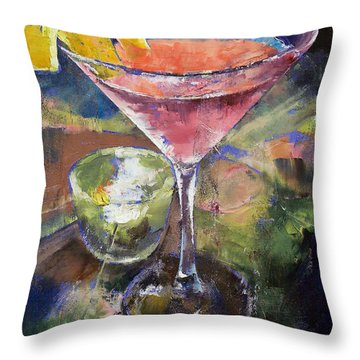 Martini Throw Pillow by Michael Creese