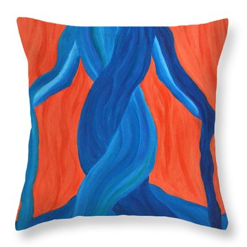Mary - Mother Of Earth - Mother Of Light Throw Pillow by Daina White