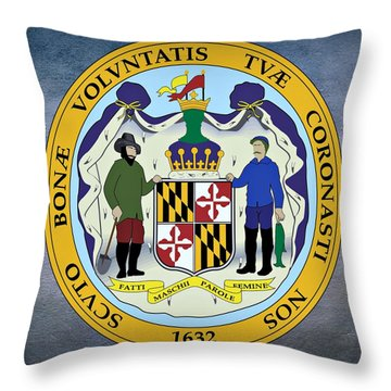 Maryland State Seal Throw Pillow by Movie Poster Prints