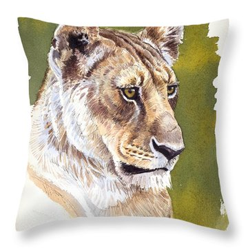 Massai Queen Throw Pillow by Aaron Blaise