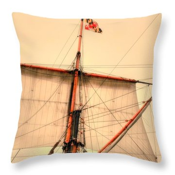 Mast Throw Pillow by Kathleen Struckle