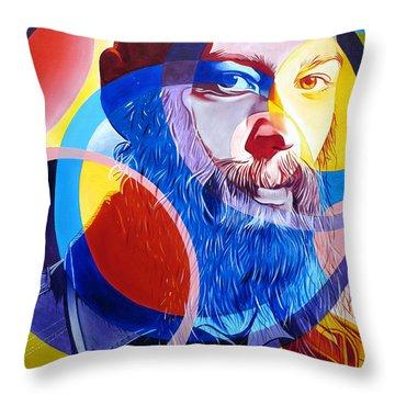 Matisyahu In Circles Throw Pillow by Joshua Morton