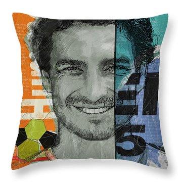 Mats Hummels - B Throw Pillow by Corporate Art Task Force