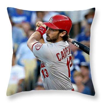 Matt Carpenter Throw Pillow by Marvin Blaine
