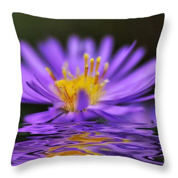 Mauve Softness And Reflections Throw Pillow by Kaye Menner