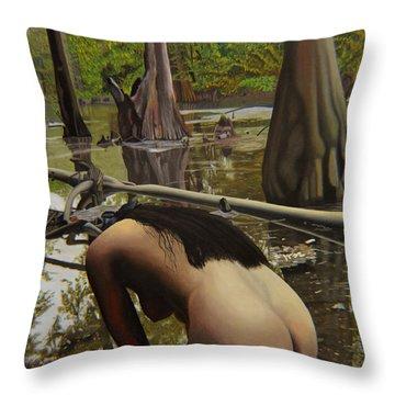 May Morning Arkansas River  2 Throw Pillow by Thu Nguyen