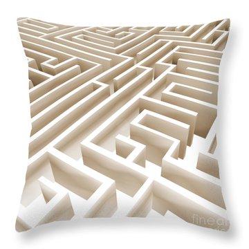 Maze Throw Pillow by Stefano Senise