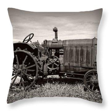 Mccormick Deering 15-30 Throw Pillow by Debra and Dave Vanderlaan