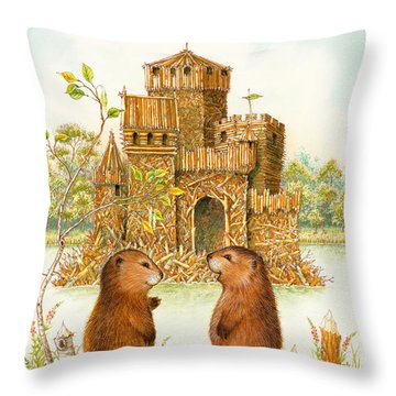 Mclodge Throw Pillow by Lynn Bywaters
