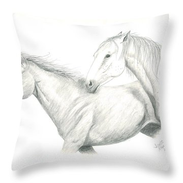 Me First Throw Pillow by Joette Snyder