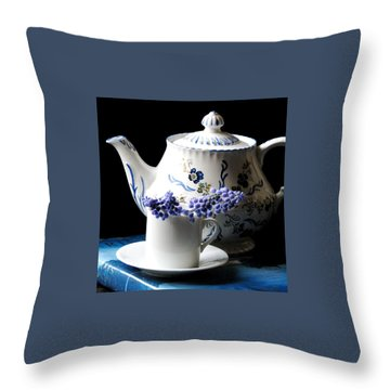 Me Time Throw Pillow by Angela Davies