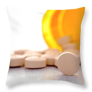 Medication Throw Pillow by Olivier Le Queinec