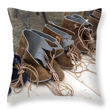 Medieval Fashion Shoes Throw Pillow by Ladi  Kirn
