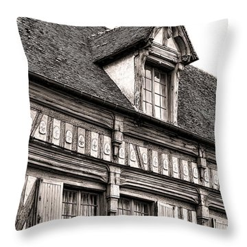 Medieval House Throw Pillow by Olivier Le Queinec