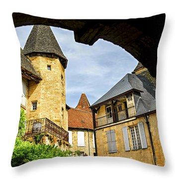 Medieval Sarlat  Throw Pillow by Elena Elisseeva