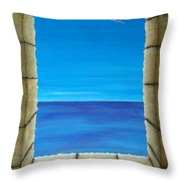 Meditation Throw Pillow by Pamela Allegretto