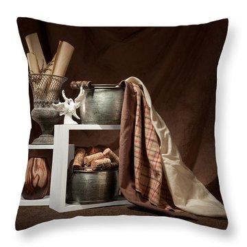 Medley Of Textures Still Life Throw Pillow by Tom Mc Nemar