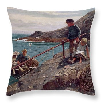 Meeting Father Throw Pillow by Thomas James Lloyd