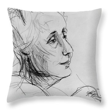 Melanie Klein Throw Pillow by Granger