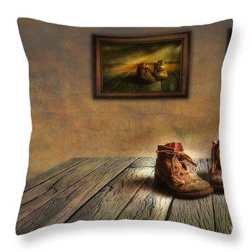 Mementos Exhibition Throw Pillow by Veikko Suikkanen