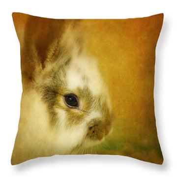 Memories Of Watership Down Throw Pillow by Lois Bryan