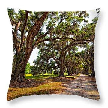 Memory Lane Throw Pillow by Steve Harrington