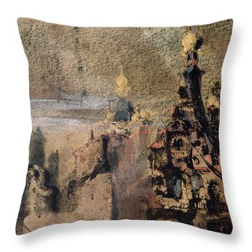 Memory Of Spain Throw Pillow by Victor Hugo