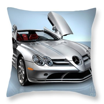 Mercedes Benz Slr Mclaren Throw Pillow by Oleksiy Maksymenko