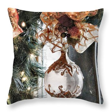 Merry Christmas Throw Pillow by Rory Sagner