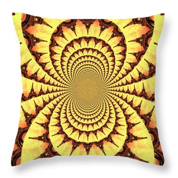 Mesmerizing Eiffel Tower Abstract Throw Pillow by Carol Groenen