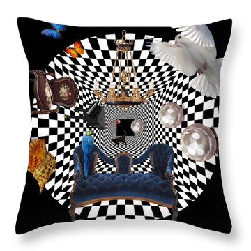 Mess In Wonderland  Throw Pillow by Mark Ashkenazi