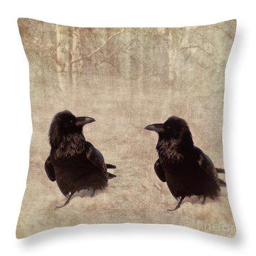 Messenger Throw Pillow by Priska Wettstein