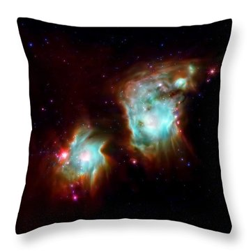 Messier 78 Star Formation Throw Pillow by The  Vault - Jennifer Rondinelli Reilly