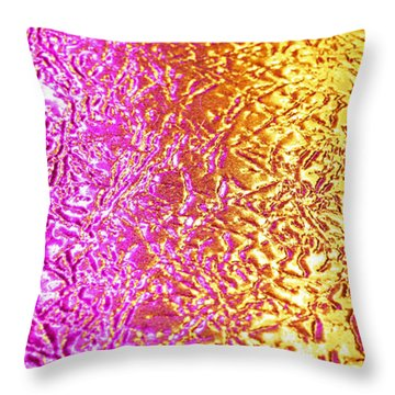 Metal Abstract Throw Pillow by Tony Cordoza