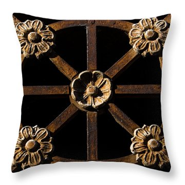 Metalworks Throw Pillow by John Daly