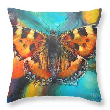Metamorphose Throw Pillow by Leigh Banks