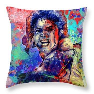 Michael Jackson 8 Throw Pillow by Bekim Art