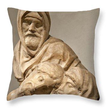 Michelangelo's Final Pieta Throw Pillow by Melany Sarafis