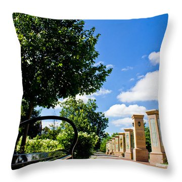 Michigan State Bench  Throw Pillow by John McGraw