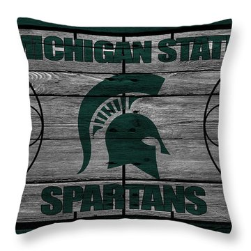 Michigan State Spartans Throw Pillow by Joe Hamilton