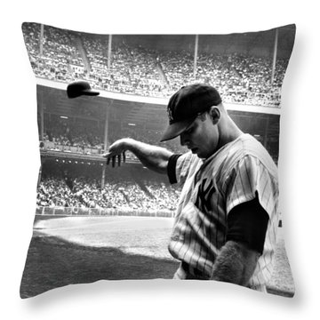 Mickey Mantle Throw Pillow by Gianfranco Weiss