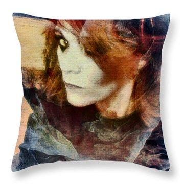 Midnight Darkness Throw Pillow by Linda Sannuti