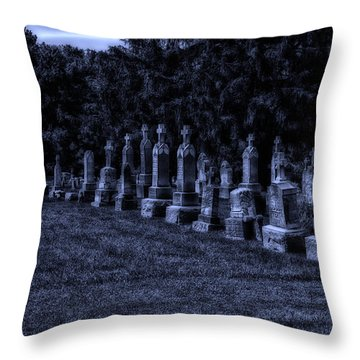 Midnight In The Garden Of Stones Throw Pillow by Thomas Woolworth