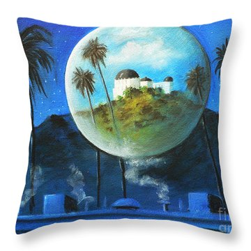 Midnights Dream In Los Feliz Throw Pillow by Susi Galloway