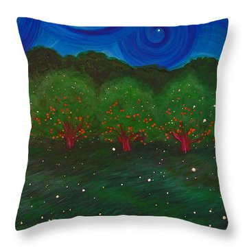 Midsummer Night By Jrr Throw Pillow by First Star Art