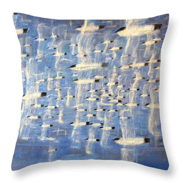 Migrate Throw Pillow by Charlie Baird