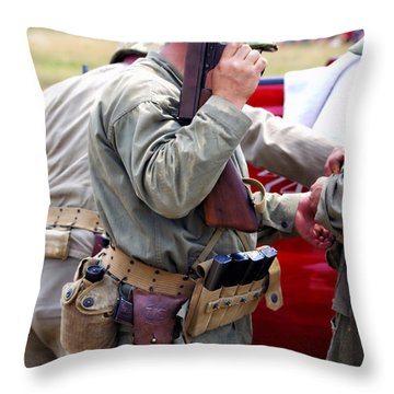 Military Small Arms 04 Ww II Throw Pillow by Thomas Woolworth