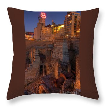 Mill Ruins Park Throw Pillow by Kent Taylor