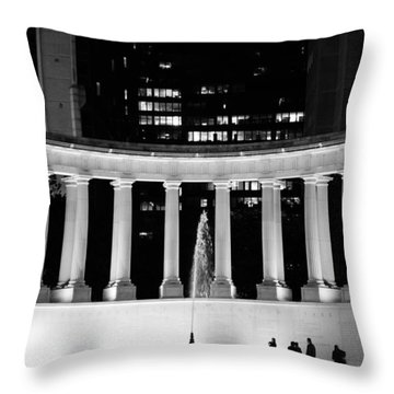 Millennium Monument And Fountain Chicago Throw Pillow by Christine Till