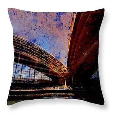 Miller Park 2 W Paint Throw Pillow by Anita Burgermeister